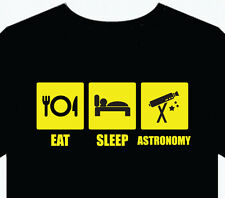 Mens T-Shirt Astronomy Tee funny gift top fun stars telescope scope universe