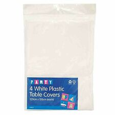 White Paper Table Cloths 4 PACK 90cmx90cm Banquet Table Cloth Cover Party
