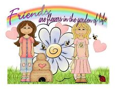 Custom Made T Shirt Friends Are Flowers In Garden Of Life Girls Bee Hive Honey