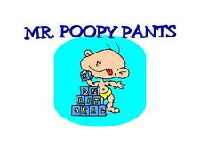 Custom Made T Shirt Mr Poopy Pants Infant Boy Baby Blocks Toys Diaper Funny
