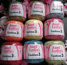 Aunt Lydia's Fashion Crochet Thread size 3-color select below