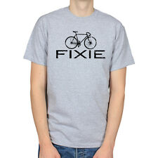 FIXIE BIKE FIXED GEAR BICYCLE SINGLE SPEED CYCLING HIPSTER MENS T-SHIRT TEE