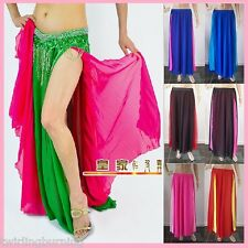 Belly Dance Skirt Two Layers three Slits Chiffon Bollywood Dancing Costume-AS04