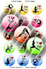 Pre-Cut 1 Inch Circle - Fitness Exercise Bottle Cap Images of Your Choice