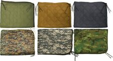 "Rip-Stop Poncho Liner With Ties - Tactical Military Camouflage 62"" x 82"""