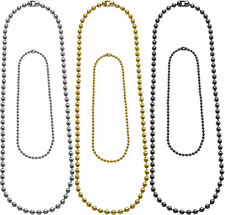 """Dog Tag Chain Set, Ball Chain 4.5"""" & 24"""" military dogtags army bead necklace"""