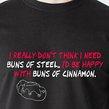 i dont need buns of steel id be happy with cinnamon buns sex retro Funny T-Shirt