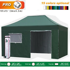 Eurmax New Pro 3Mx4.5M Pop up Gazebo Tent Patio Marquee With Walls&wheeled bag