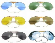 Aviator Sunglasses Air Force Style Silver Frames