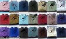 Mens Thai Silk Dress Shirts / S-XXXL / 23 Colours / 6 Sizes / Long Sleeve