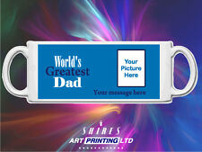 Worlds Greatest Dad Personalised Mug with your image of choice. Gift for Dad