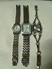 NEW SILVER TONE WATCH NEW YORK & COMPANY RHINESTONES *K5*