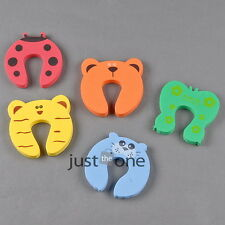 NEW Baby Cute Cartoon Animals Door Stop Finger Pinch Safety Guard 3pcs Lovely