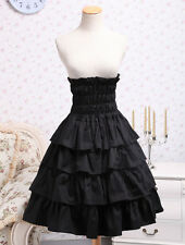 2013 New Latest Lovely Fashion Cotton Black Ruffle Girl Lolita Skirt Dress 7508