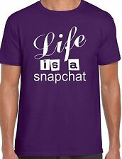 SNAP CHAT ~ LIFE IS A SNAPCHAT ~ #SNAPCHAT ~ PICTURE MESSAGES ~ UNISEX T SHIRT