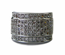 Mens BAND OF ICE Micropave A Class HipHop Bling Ring