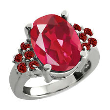 4.55 Ct Oval Last Dance Pink Mystic Quartz Garnet 925 Silver Ring