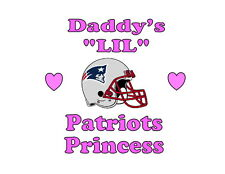 Daddy's LIL Patriots Princess New England girls NFL tshirt one piece