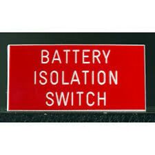 Engraved Laminate Plastic Sign Choose Your Own Wording 150mm x 150mm From Melian