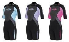 "Ladies Osprey ""Sprey"" Shorty Shortie Wetsuit for Bodyboarding Surfing Diving"