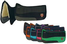 PRI PREMIUM DOUBLE BACK FLEECE PLATINUM SUEDE WESTERN SADDLE PAD