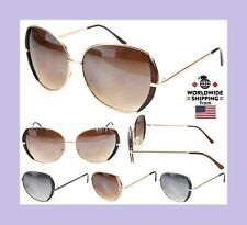 New Womens Ladies Girls Sunglasses Eyewear Designer Shades Celebrity Gold Frame