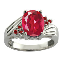 2.42 Ct Oval Last Dance Pink Mystic Quartz Red Garnet 925 Sterling Silver Ring