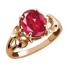 2.30 Ct Oval Last Dance Pink Mystic Quartz Rose Gold Plated 925 Silver Ring
