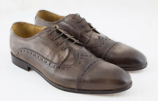 Gino Tagli Mens Formal Brown Leather Hand Made in Italy Shoes Smart Brogue