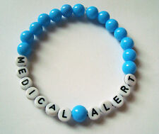 Mens womens acrylic medical & allergy ID bracelets in lots of colours for adults