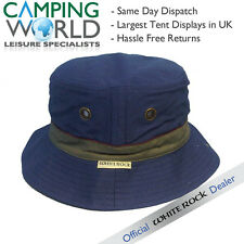 White Rock Oasis Cotton Solid Band Hat NAVY - Hydro Cool & Bug Off + Pocket
