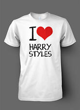 I Love Harry Styles TShirt - High Quality DTG Print - One Direction Heart