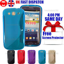 GRIP S-LINE SILICONE GEL CASE & FREE SCREEN PROTECTOR FITS GALAXY S3 I9300