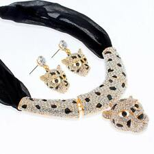 Janeojewels Panther Cat Choker Jewellery Necklace Earrings Set Christmas Sale