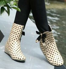 Girl's Rain Boots bowknot Polka Dot Womens boots Ankle Boots Galoshes 3 Color