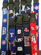 MLB Licensed Two Tone Lanyard Keychain Badge Ticket Holder NEW Pick Your Team!