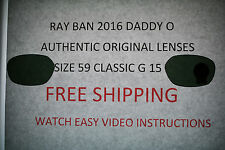 Ray-Ban 2016 Daddy O Lenses Only Size 59 FREE SHIPPING!