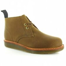 Dr Martens Langley Mens Desert Boots in Waxed Brown Canvas REDUCED TO CLEAR