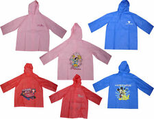 BOYS/GIRLS DISNEY MICKEY MOUSE,THE CAR,PRINCESS HOODED RAINCOAT SIZE 4,6,8 YEARS