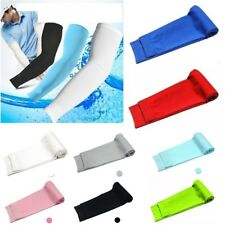 Mens Cooling Athletic Sport Skins Arm Sleeves Sun Protective UV Cover Golf 1pair