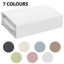 300TC 100% Cotton Hotel Quality Fitted Sheet Set - 5 Bed Sizes - 7 Colours