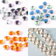 20pcs/100pcs Shine LOVE Heart Glass Crystal Spacer Beads Crystal Loose Gem Beads