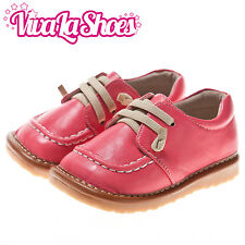 Girls Infant Toddler - Leather Squeaky Shoes - Dark Pink