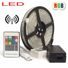 RF Wireless Remote RGB Color Flash Change LED Strip Light Kit Flexible Dimmable