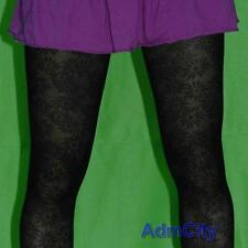 Admcity Spandex Mesh Pantyhose Tights Daisy Floral Pattern Soft Touch Black