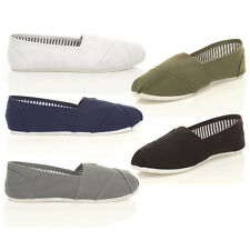 MENS SLIP ON CASUAL ESPADRILLES CANVAS SUMMER PUMPS DECK SHOES SIZE