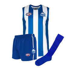 Official AFL Footy North Melbourne Kangaroos Kids Auskick Jumper Guernsey Shorts