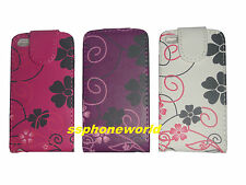 FLORAL FLOWER LEATHER CASE FLIP COVER POUCH FOR APPLE IPOD TOUCH 4TH GEN TOUCH 4