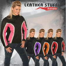 New Motorcycle Motorbike sports women Mesh Textile CE armour air Vented Jacket