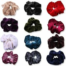Large Girls Womens Velvet Hair Scrunchie Elastic Gymnastics Choice Of 13 Colours